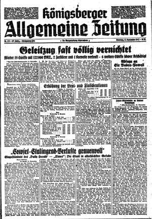 Königsberger allgemeine Zeitung vom 15.09.1942
