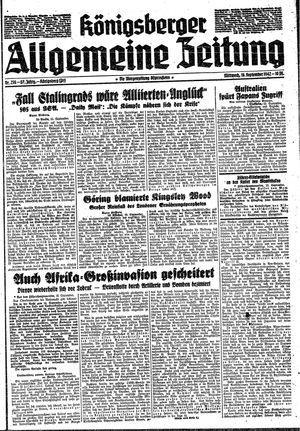 Königsberger allgemeine Zeitung vom 16.09.1942