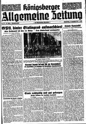 Königsberger allgemeine Zeitung vom 17.09.1942