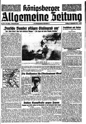 Königsberger allgemeine Zeitung vom 18.09.1942