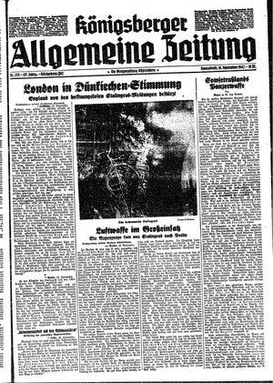 Königsberger allgemeine Zeitung vom 19.09.1942