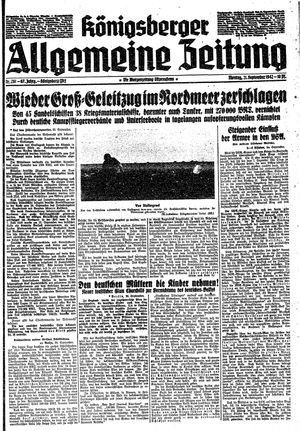 Königsberger allgemeine Zeitung vom 21.09.1942
