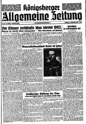 Königsberger allgemeine Zeitung vom 22.09.1942