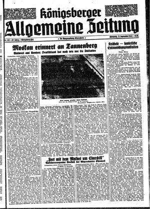 Königsberger allgemeine Zeitung vom 23.09.1942