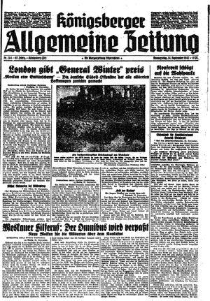 Königsberger allgemeine Zeitung vom 24.09.1942