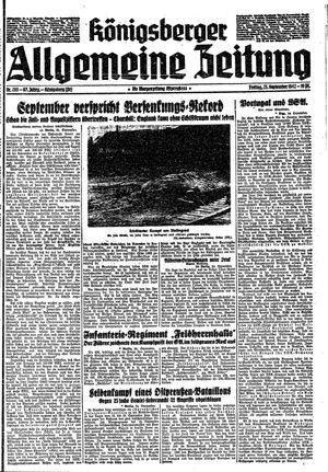 Königsberger allgemeine Zeitung vom 25.09.1942