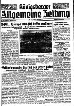 Königsberger allgemeine Zeitung vom 26.09.1942