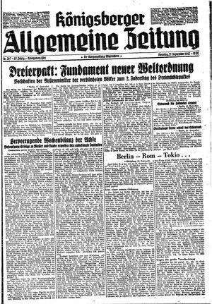 Königsberger allgemeine Zeitung vom 27.09.1942