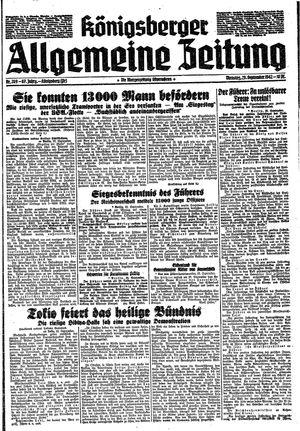 Königsberger allgemeine Zeitung vom 29.09.1942