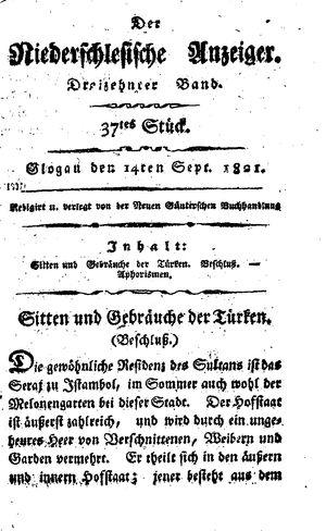 ˜Derœ niederschlesische Anzeiger vom 14.09.1821