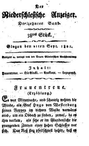 ˜Derœ niederschlesische Anzeiger vom 21.09.1821
