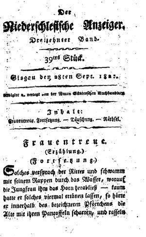 ˜Derœ niederschlesische Anzeiger vom 28.09.1821