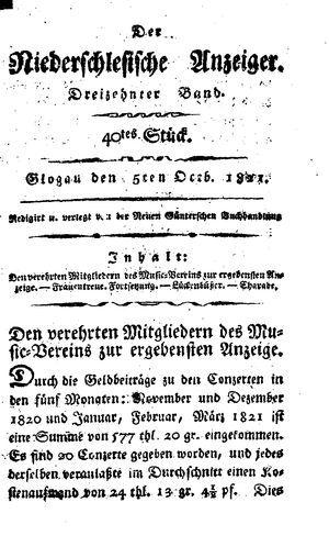 ˜Derœ niederschlesische Anzeiger vom 05.10.1821