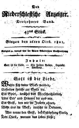 ˜Derœ niederschlesische Anzeiger vom 26.10.1821