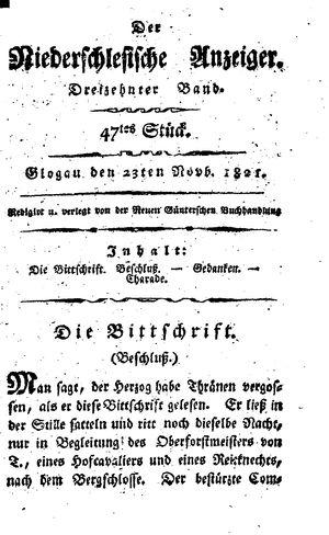 ˜Derœ niederschlesische Anzeiger vom 23.11.1821