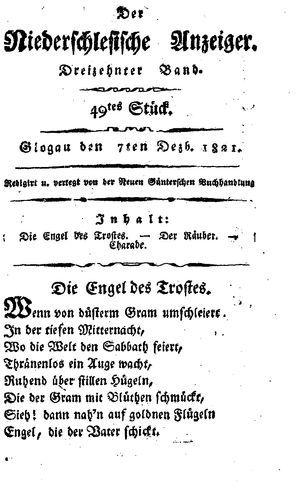 ˜Derœ niederschlesische Anzeiger vom 07.12.1821