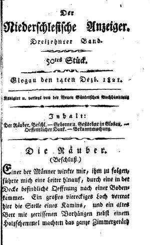˜Derœ niederschlesische Anzeiger vom 14.12.1821