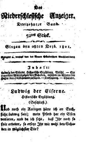 ˜Derœ niederschlesische Anzeiger vom 28.12.1821
