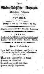 Der niederschlesische Anzeiger (27.09.1822)