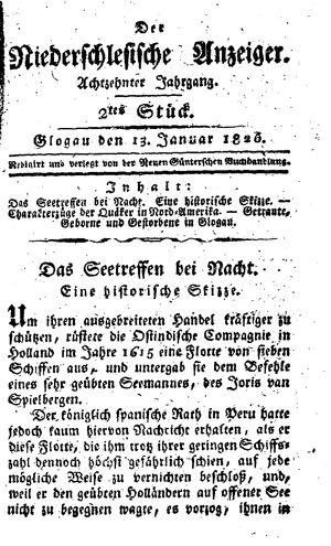 ˜Derœ niederschlesische Anzeiger vom 13.01.1826