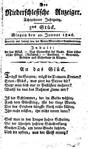 ˜Derœ niederschlesische Anzeiger vom 20.01.1826
