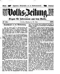 Volks-Zeitung (23.06.1857)