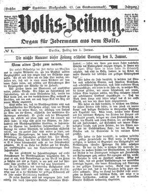 Volks-Zeitung on Jan 1, 1858