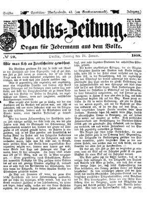 Volks-Zeitung vom 24.01.1858