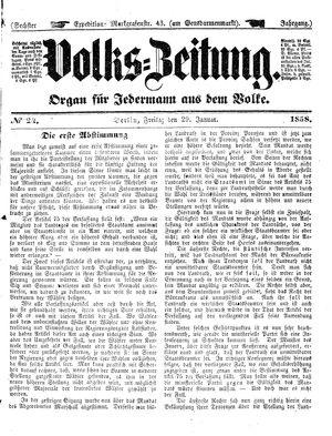 Volks-Zeitung vom 29.01.1858