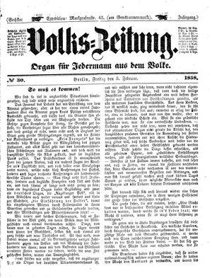 Volks-Zeitung on Feb 5, 1858