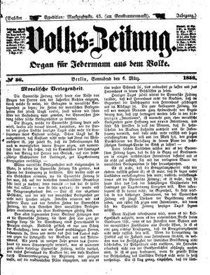 Volks-Zeitung vom 06.03.1858