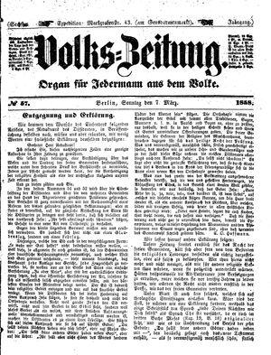 Volks-Zeitung on Mar 7, 1858