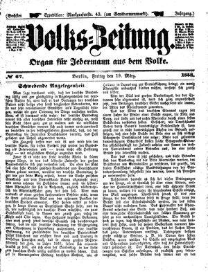 Volks-Zeitung vom 19.03.1858