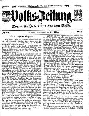Volks-Zeitung vom 20.03.1858