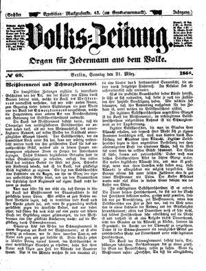 Volks-Zeitung vom 21.03.1858