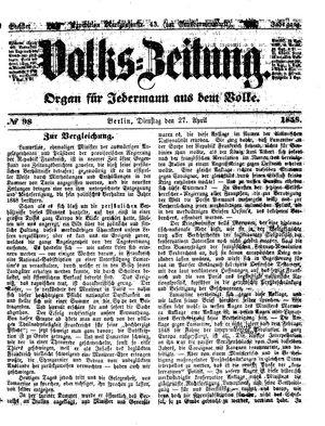 Volks-Zeitung on Apr 27, 1858