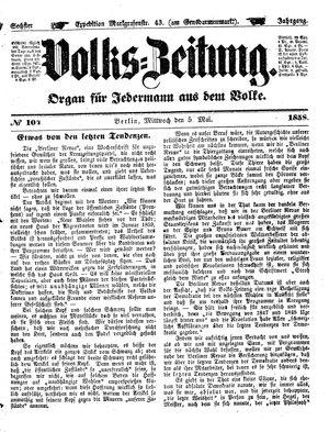 Volks-Zeitung vom 05.05.1858