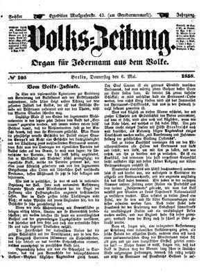 Volks-Zeitung vom 06.05.1858