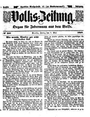 Volks-Zeitung vom 07.05.1858