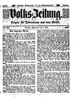 Volks-Zeitung vom 08.05.1858