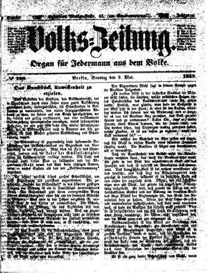 Volks-Zeitung vom 09.05.1858