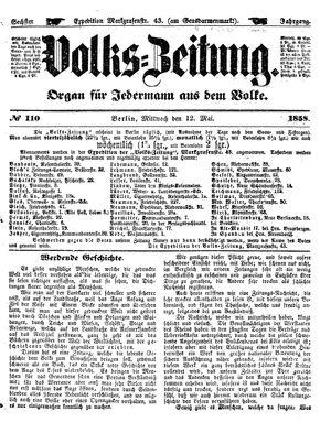 Volks-Zeitung vom 12.05.1858