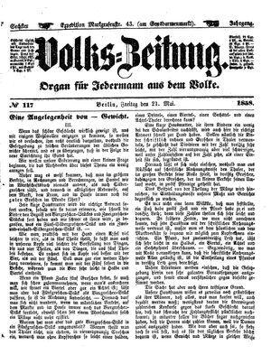 Volks-Zeitung on May 21, 1858