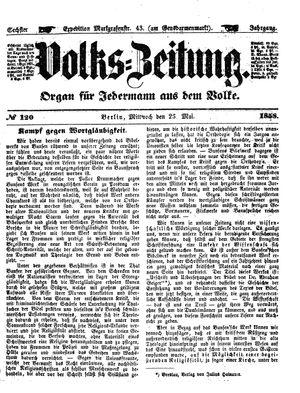 Volks-Zeitung vom 26.05.1858