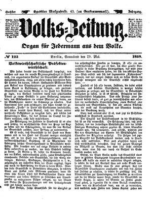 Volks-Zeitung vom 29.05.1858
