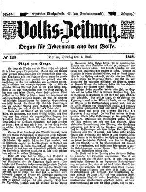 Volks-Zeitung vom 01.06.1858