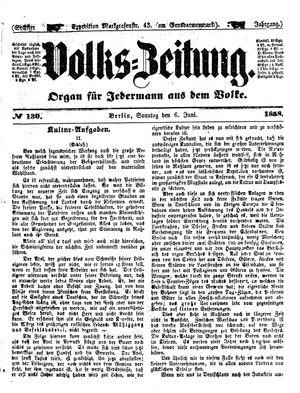 Volks-Zeitung vom 06.06.1858