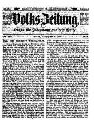 Volks-Zeitung vom 08.06.1858