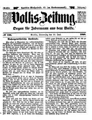 Volks-Zeitung vom 10.06.1858