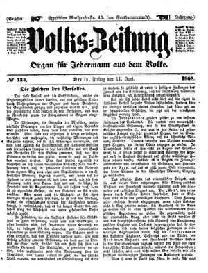 Volks-Zeitung vom 11.06.1858